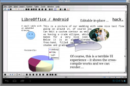 LibreOffice Android - Wygląd Writera