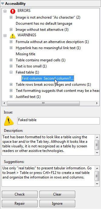 LibreOffice - OpenOffice - AccessODF