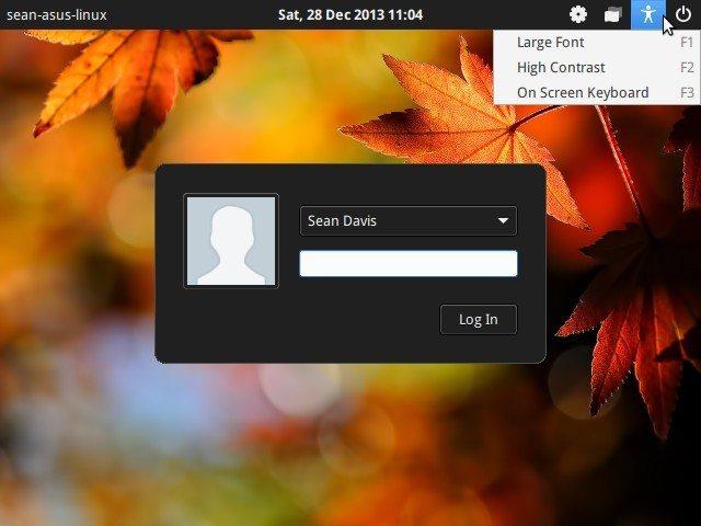 LightDM GTK+ Greeter 1.7 - klawisze skrótu