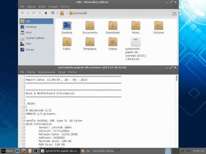 Linux Lite 1.0.6 - Create System Report