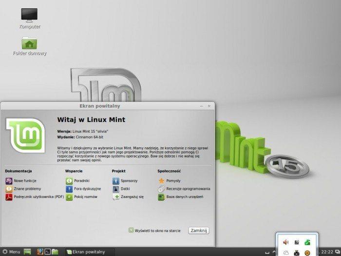 Linux Mint 15 Olivia - pulpit
