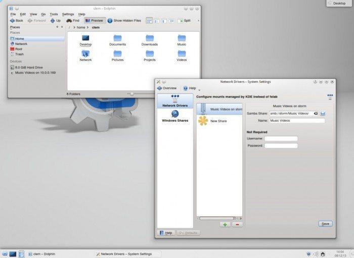 Linux Mint 16 KDE - Samba Mounter