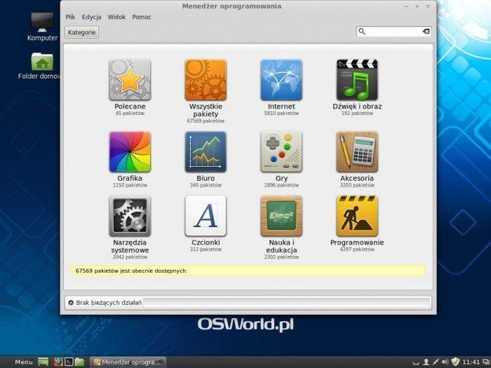 Linux Mint 16 - Menedżer Oprogramowania