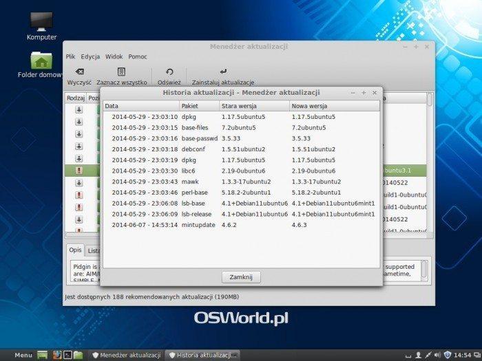 Linux Mint 17 - Historia aktualizacji