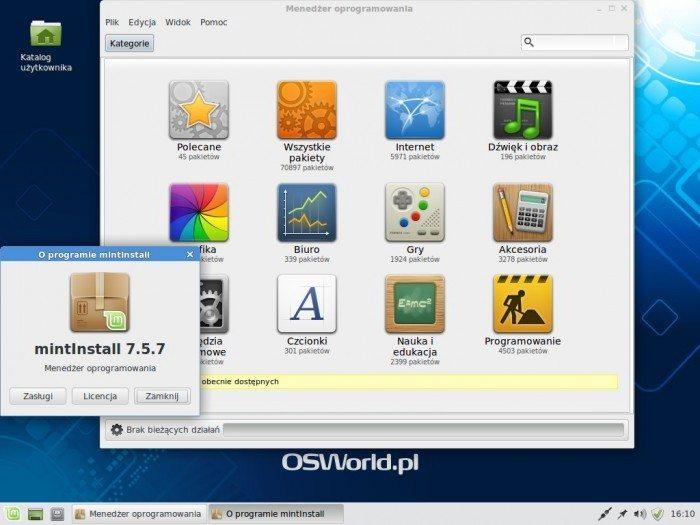Linux Mint 17 Xfce - Menedżer oprogramowania