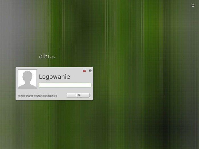 Linux Mint 17 - ekran logowania