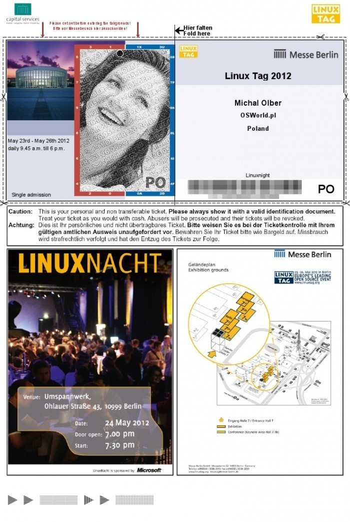 Bilet na LinuxNacht