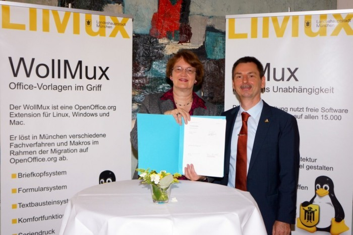 Major Monachium Christine Strobl i lider projektu LiMux Hofman