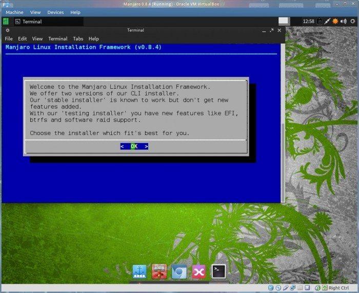 Manjaro 0.8.4 - instalator
