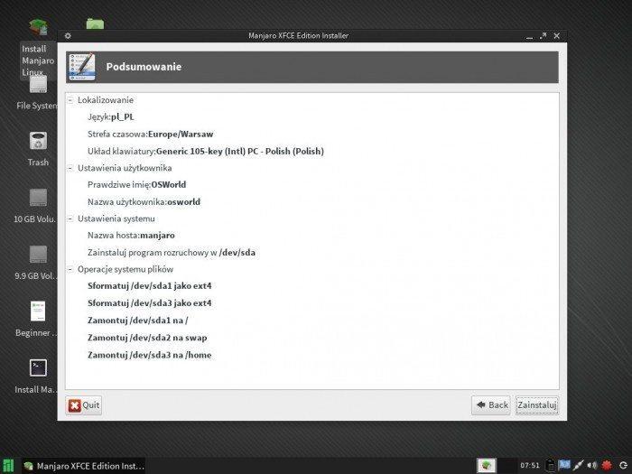 Manjaro 0.8.7 - Live Installer 4