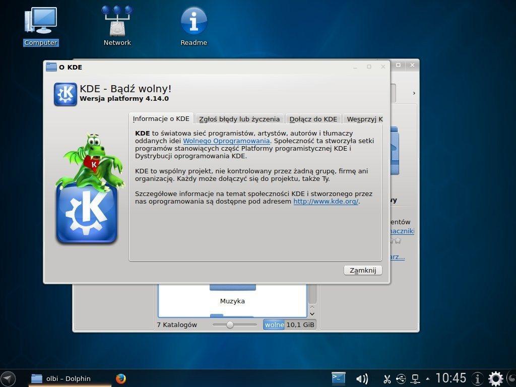 Netrunner Rolling 2014.09.1 - wersja KDE