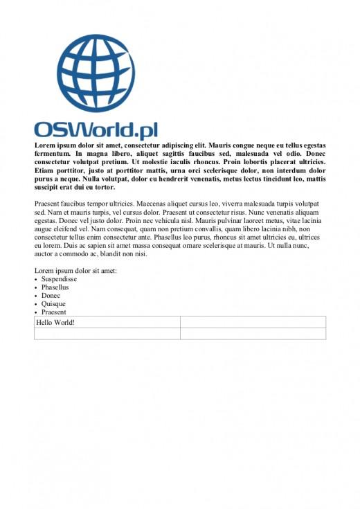 OSWorld - Dokument wygenerowany przez ODF Toolkit