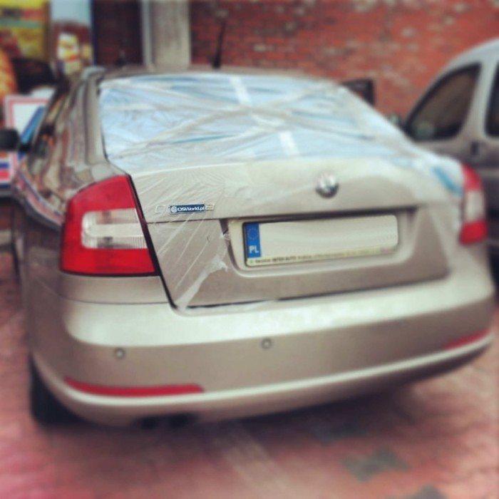 OSWorld.pl na wakacjach II - naklejka na samochodzie