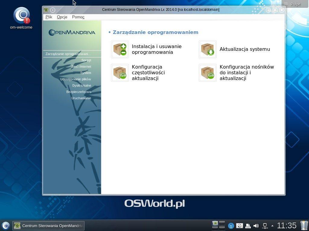 OpenMandriva Lx 2014.1 - pulpit