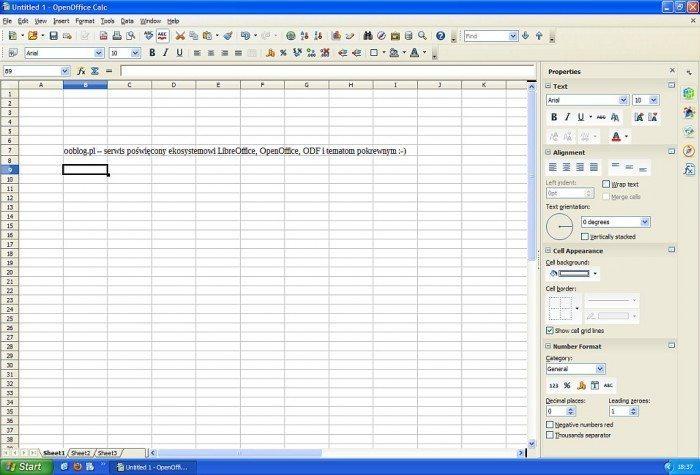 OpenOffice 4 - Calc