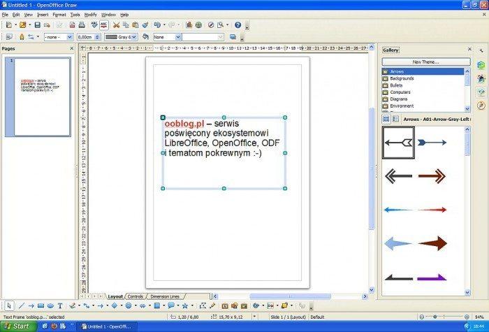OpenOffice 4 - Draw