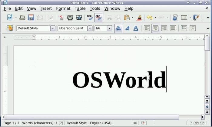 OpenPandora - LibreOffice Writer