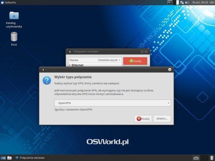 OpenVPN w NetworkManagerze - dodanie nowego OpenVPN