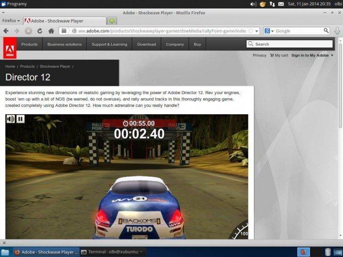 Pipelight pod Ubuntu - Shockwave Player