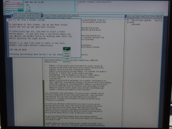 Plan 9 na Raspberry Pi - menu środkowe