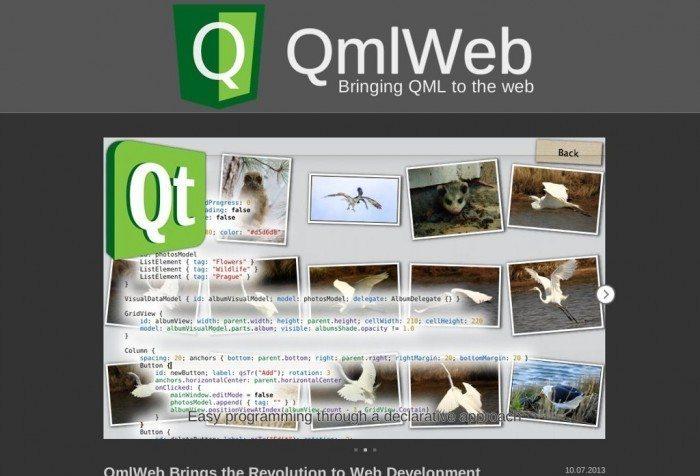 QmlWeb - przykładowa strona