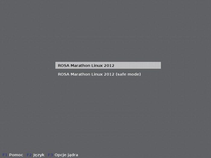 ROSA LXDE 2012 LTS - GRUB
