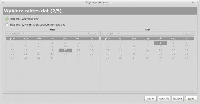 RedNotebooka - eksportowanie