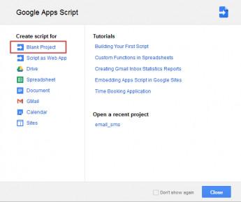 SMS Server - Google Apps Script