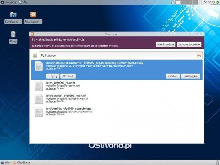 Sabayon - Rigo - aktualizacja plików konfiguracyjnych