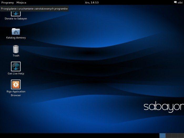 Sabayon - próba ujarzmienia Gentoo - GNOME - tryb Legacy