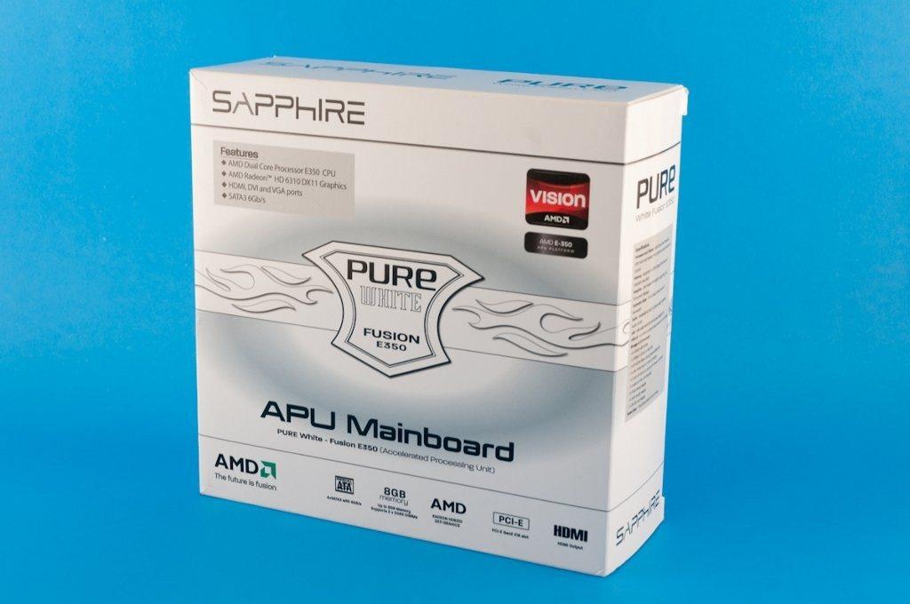 Sapphire Pure White Fusion E350 - pudełko przód