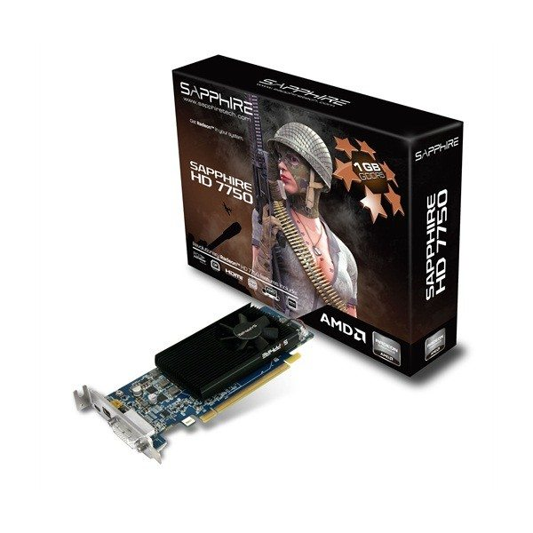 Sapphire Radeon HD 7750 Low Profile - pudełko