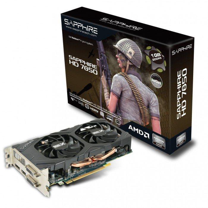 Sapphire Radeon HD 7850 OC 1 GB - opakowanie