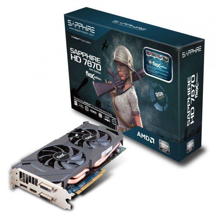 Sapphire Radeon HD 7870 FleX - pudełko i karta graficzna