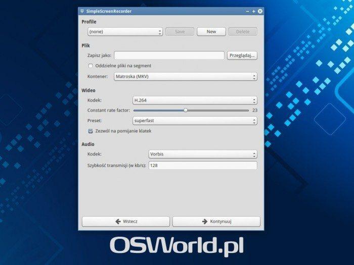 SimpleScreenRecorder 0.3.0 - ekran 3