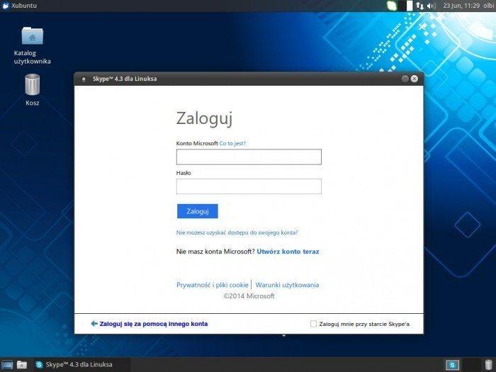 Skype 4.3 - konto Microsoft