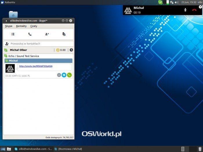 Skype 4.3 - małe okienko rozmowy