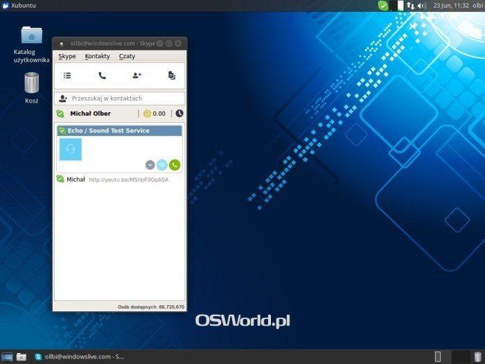 Skype 4.3 - okno główne