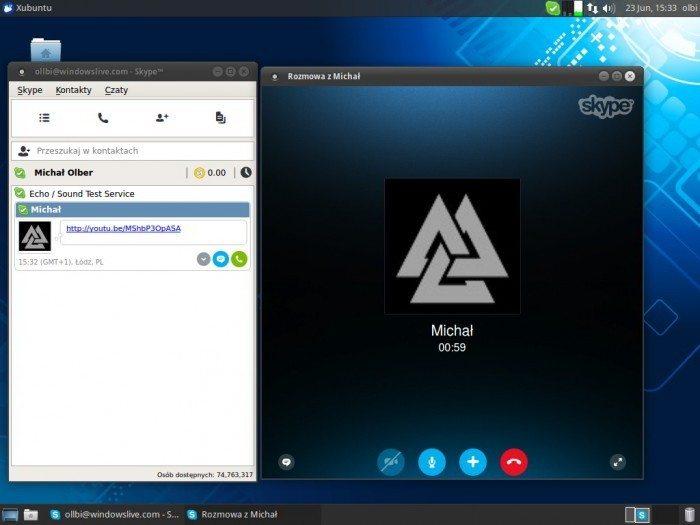 Skype 4.3 - rozmowa głosowa