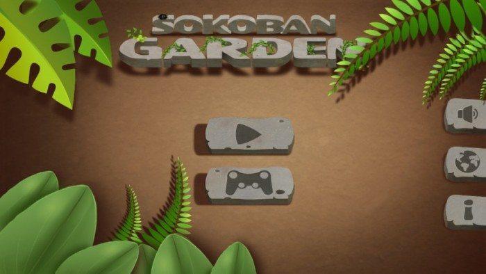 Sokoban Garden 3D - menu główne
