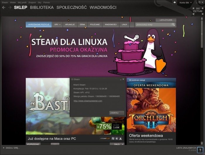 Steam dla Linuksa