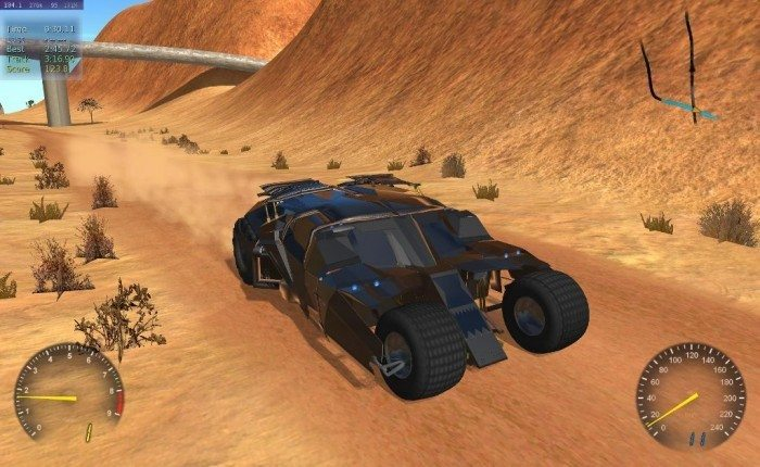 Stunt Rally 2.1 - auto Batmana przód