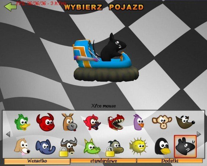 SuperTuxKart - Xfce mouse - prawy bok