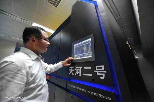 Superkomputer-Tianhe-2 - ekran kontroli klastra