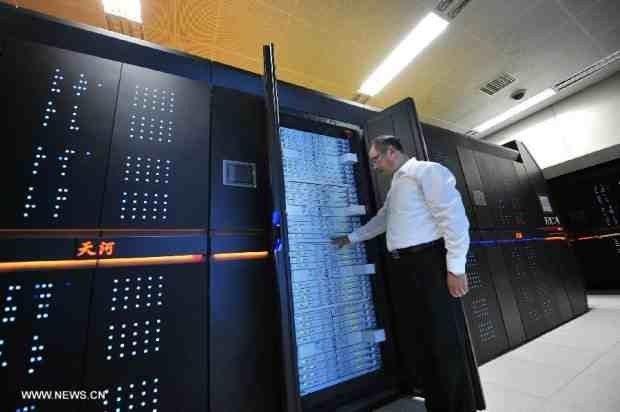 Superkomputer-Tianhe-2 - klaster we wnątrz