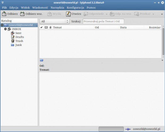 Sylpheed 3.2 - skrzynka główna