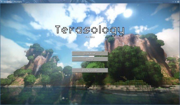 Terasology - Pre Alpha - menu główne