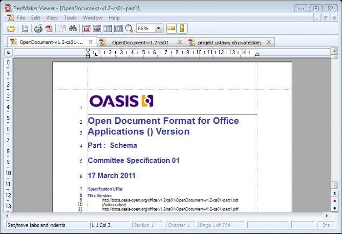 TextMaker Viewer - odczyt dokumentu ODF