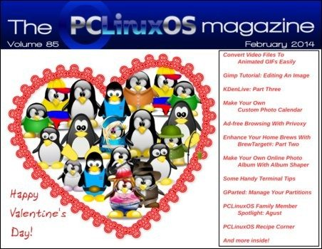 The PCLinuxOS Magazine – luty 2014 - okładka