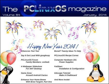 The PCLinuxOS Magazine – styczeń 2014 - okładka